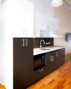 Studio kitchenette at 196 Trumbull