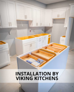 Viking Kitchens installed the kitchen cabinets and bathroom vanities at Residences On Main in Bristol.